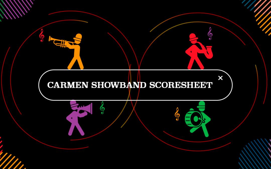 Carmen Showband Scoresheet